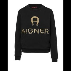 AIGNER GOLD EMBROIDERED TOP